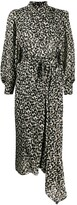 Isabel Marant patterned high-neck midi dress