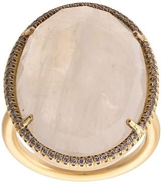 Irene Neuwirth 18kt yellow gold moonstone cocktail ring