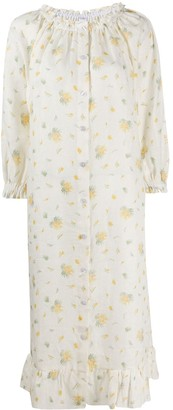 Sleeper Floral-Print Shift Dress