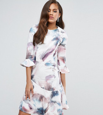 Little Mistress Tall All Over Printed Fluted Skater Dress