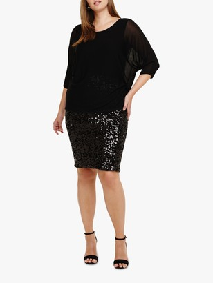 Studio 8 Pixie Sequin Embellished Dress, Black