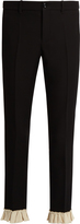 Gucci Ruffle-trimmed silk and wool-blend cady trousers