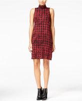 Kensie Herringbone Turtleneck Shift Dress