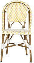 The Well Appointed House Set of Two Riviera Salcha Indoor/Outdoor Stacking Side Chairs in Yellow and White