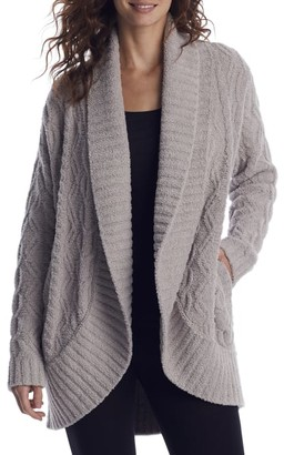 Barefoot Dreams CozyChic Cable Shawl Cardi