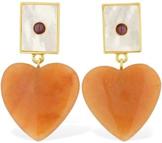 Lizzie Fortunato Venice Ii Heart Earrings