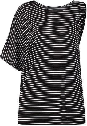 MM6 MAISON MARGIELA Striped Asymmetric T-Shirt