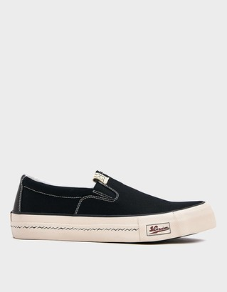 Visvim Men's Skagway Sneaker in Black, Size 8 | Leather