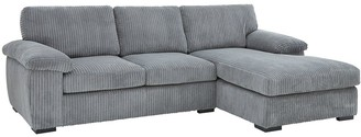 Amalfi 3 Seater Right Hand Standard Back Fabric Corner Chaise Sofa