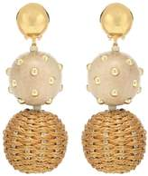 Oscar de la Renta Embroidered drop earrings