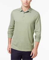Tasso Elba Men's Geometric Long-Sleeve Polo, Created for Macy's