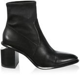 Alexander Wang Anna Rhodium & Stretch-Leather Sock Boots