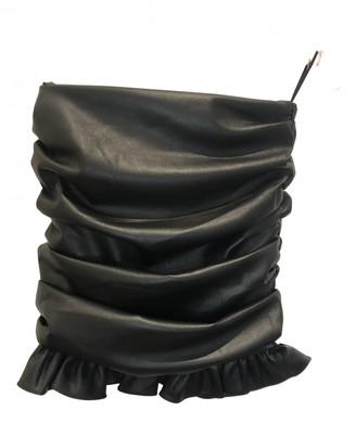 Orseund Iris Black Leather Skirts
