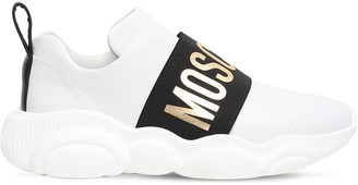 Moschino 30mm Logo Band Faux Leather Sneakers