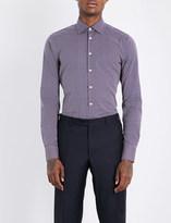 Etro Geometric-pattern slim-fit stretch-cotton shirt