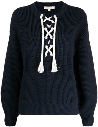 Michael Kors Collection Lace-Up Jumper