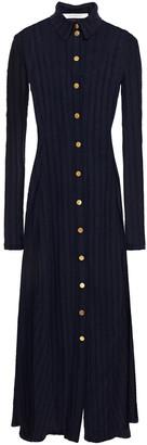 Cédric Charlier Cotton-jacquard Midi Shirt Dress