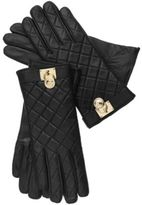 MICHAEL Michael Kors Quilted Leather Hamilton Lock Gloves with Touch Tips