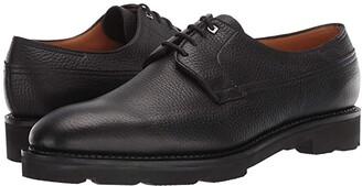 John Lobb Croft Pebble Grain Leather Derby w/ Walking Sole (Black) Men's Shoes