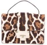 Jimmy Choo Leopard Rebel Ponyhair Bag