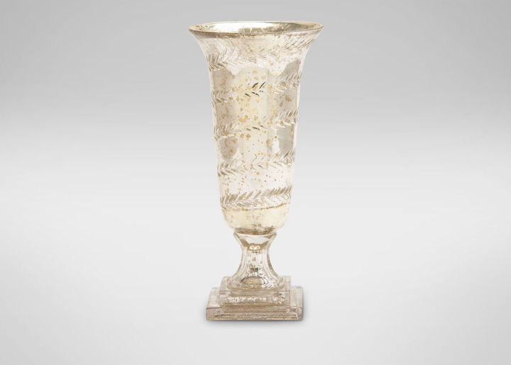 Laurèl Etched Glass Vase