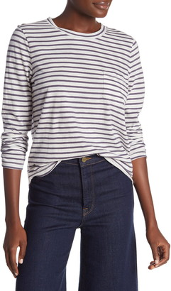 Madewell Striped Long Sleeve Pocket T-Shirt