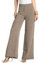 Chico's Abstract Diamonds Wide-Leg Trousers