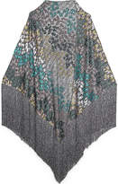 Missoni Metallic wrap cape