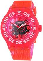 Swatch Deep Berry – Unisex Quartz Watch with Plastic Strap, Pink