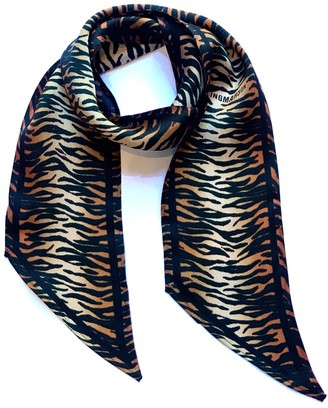 Ingmarson Tiger Silk Neck Scarf Burnt Orange