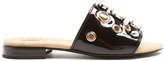 Toga Embellished patent-leather slides