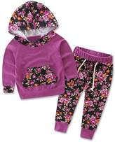 DaySeventh Baby Kids Fashion Set Long Sleeve Printing Tracksuit Top +Pants Outfits (6M, )