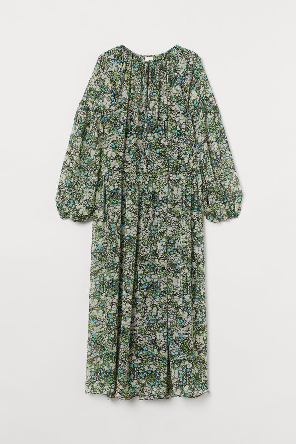H&M - Long Chiffon Dress - Black