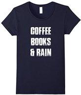 Women's books and coffee shirt Medium