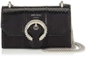 Jimmy Choo PARIS Black Elaphe Mini Bag with Crystal Buckle