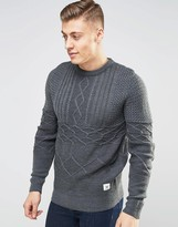 Bellfield Cable Knitted Sweater