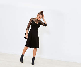 Oasis Metallic Lace Dress