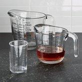 Crate & Barrel Glass Measuring Cups