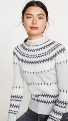 ADAM by Adam Lippes Cashmere Fair Isle Crew Sweater