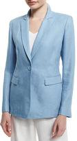Lafayette 148 New York Mackenzie Lavish One-Button Linen Jacket