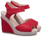 BEIGE Butiti BUTITI Women's Sandals red - Red & Lace Espadrille - Women