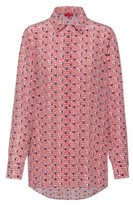 HUGO BOSS - Washed Silk Blouse With Window Inspired Print - Patterned