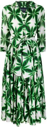 Samantha Sung Aster floral-print shirt dress