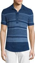 Orlebar Brown Sebastian Multi-Stripe Short-Sleeve Polo Shirt, Mazanine