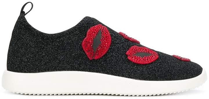 Giuseppe Zanotti Design Alena Bouche glittery sneakers