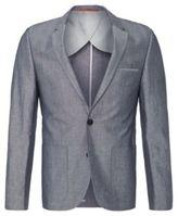 HUGO BOSS Alesono Slim Fit, Linen Cotton Sport Coat 36R Blue