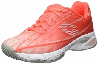 Lotto Women's Mirage 300 Clay Sandplatzschuh Damen Silber (38.5 EU) Tennis Shoes