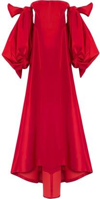 Carolina Herrera Drape-Detail Silk Gown