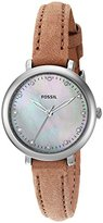 Fossil Women's Quartz Stainless Steel and Leather Automatic Watch, Color:Brown (Model: ES4084)