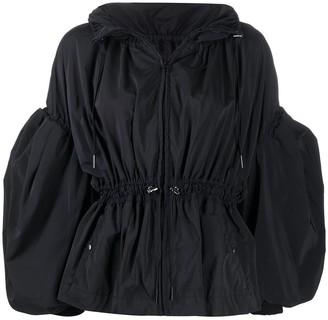 Enfold Puff-Sleeve Short Jacket